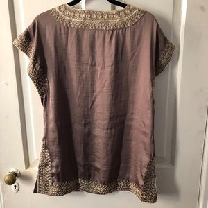 Gold embroidered tunic